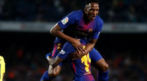 ג'רי מינה במדי ברצלונה (La Liga)