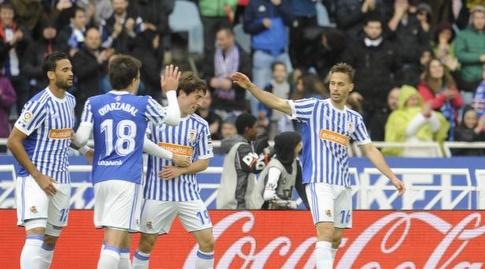שחקני סוסיאדד חוגגים (La Liga)