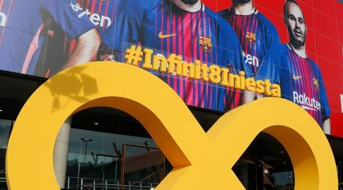 המחווה לאינייסטה מחוץ לאצטדיון (La Liga)