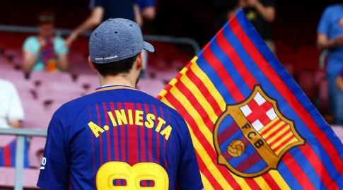 אוהד ברצלונה מוקיר תודה (La Liga)