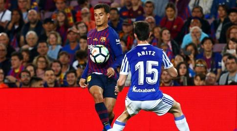 פיליפה קוטיניו משתלט על החזה (La Liga)