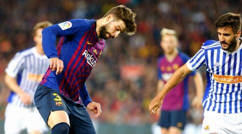 פיקה עוצר את הכדור (La Liga)