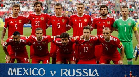 שחקני נבחרת רוסיה (רויטרס)