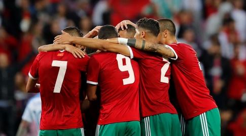 שחקני נבחרת מרוקו (רויטרס)