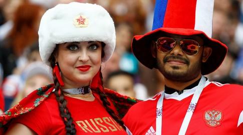 יציע אוהדי רוסיה (רויטרס)