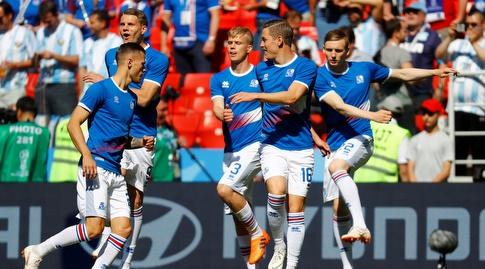 שחקני נבחרת איסלנד (רויטרס)
