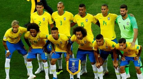 נבחרת ברזיל. כולם מחכים להצגה שלהם (רויטרס)