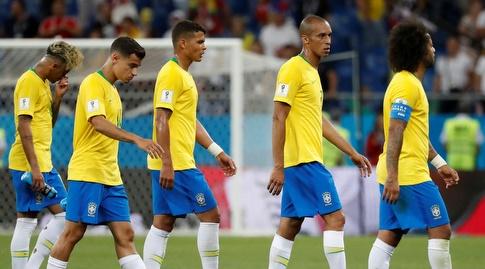שחקני ברזיל מאוכזבים (רויטרס)