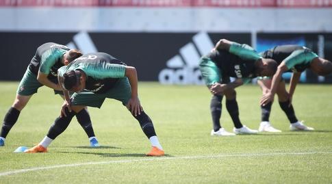 שחקני פורטוגל באימון (רדאד ג'בארה)