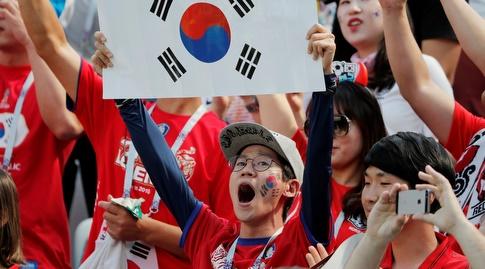 אוהד דרום קוריאה בטירוף (רויטרס)