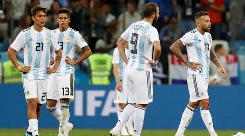 שחקני ארגנטינה. איפה היו הצעירים? (רויטרס)