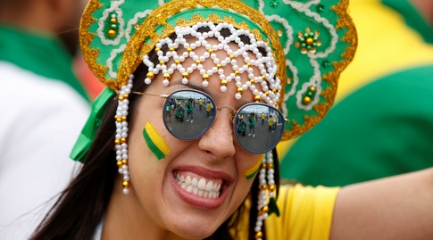 אוהדת ברזיל (רויטרס)