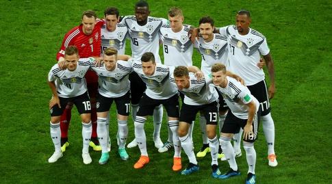 נבחרת גרמניה. הגיעה עם הגב אל הקיר (רויטרס)