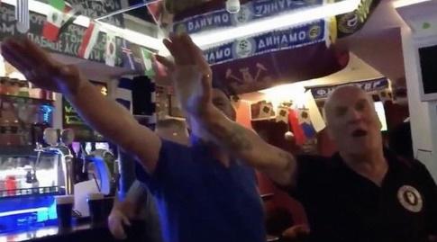 אוהדי נבחרת אנגליה (צילום מסך מהסרטון)