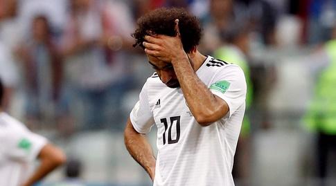 מוחמד סלאח לאחר ההפסד לערב הסעודית (רויטרס)
