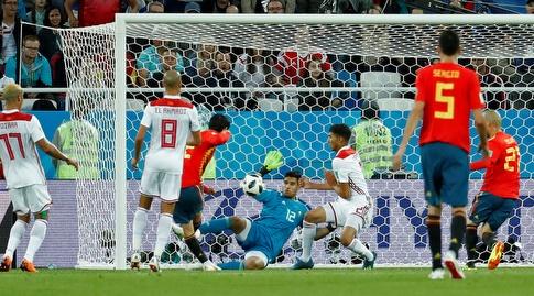איסקו מבקיע מול מרוקו (רויטרס)