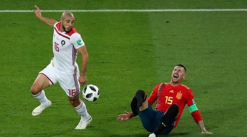 נורדין אמרבאט וסרחיו ראמוס במאבק על כדור (רויטרס)