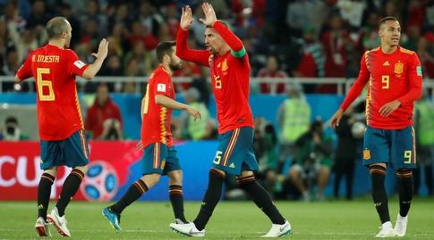 שחקני ספרד חוגגים (רויטרס)