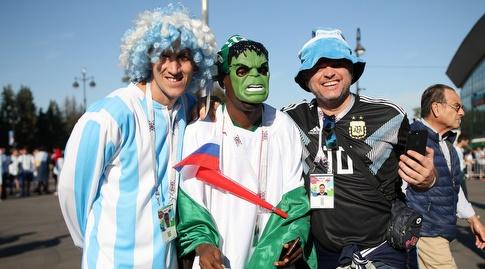 אוהדי ארגנטינה. בינתיים הם מחייכים (רדאד ג'בארה)