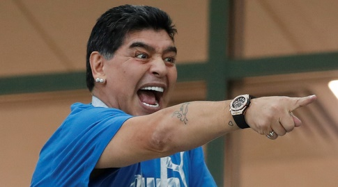 """דייגו מראדונה. """"כואב בשביל קולומביה"""" (רויטרס)"""