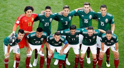 שחקני נבחרת מקסיקו (רויטרס)