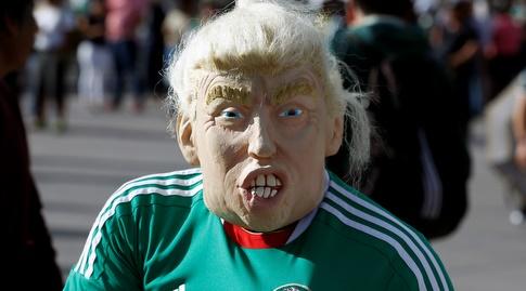 גם טראמפ הגיע לעודד את מקסיקו (רויטרס)