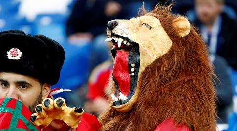 האריה המרוקאי שואג ביציע, לא עשה יותר מדי רושם על יריבות הבית (רויטרס)