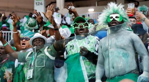 אוהדי ניגריה חגיגיים (רויטרס)