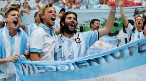 אוהדי נבחרת ארגנטינה. יארחו ב-2030? (רויטרס)