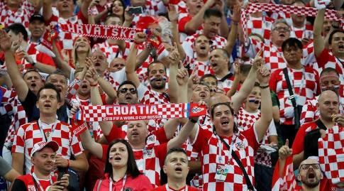 אוהדי נבחרת קרואטיה. גמר ראשון אחרי 27 שנות קיום? (רויטרס)