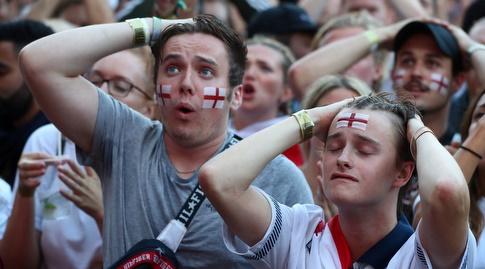 אוהדי אנגליה מאוכזבים. יתנחמו במקום השלישי? (רויטרס)