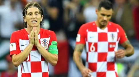 שחקני קרואטיה מאוכזבים (רויטרס)