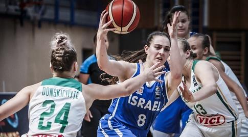 נבחרת הנערות מול ליטא (באדיבות איגוד הכדורסל)