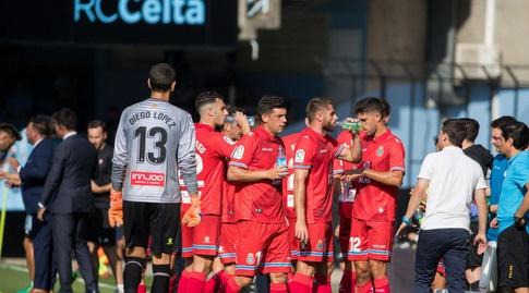 שחקני אספניול בהפסקת שתייה (La Liga)
