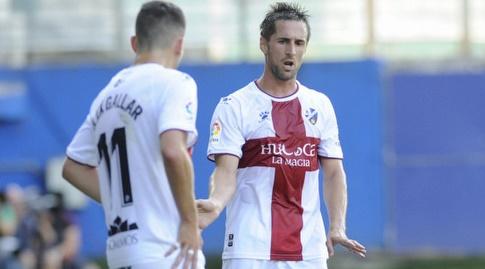 חורחה מיראמון ואלחנדרו גלאר במהלך המשחק (La Liga)