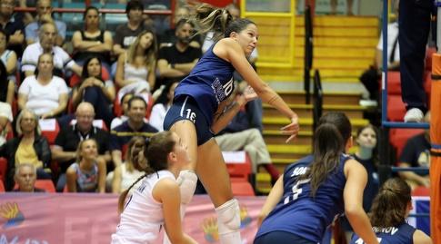שחקניות נבחרת כדורעף הנשים במהלך (שחר גרוס)
