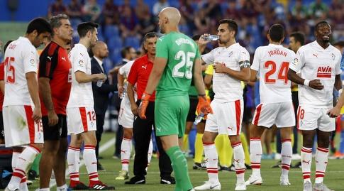שחקני אייבר בהפסקת שתייה (La Liga)