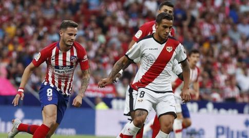 סאול ניגס ואוסקר טרחו במאבק על הכדור (La Liga)