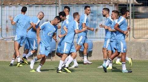 שחקני נבחרת ישראל באימון (רדאד ג'בארה)