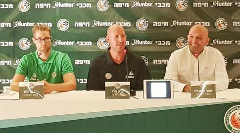 (דוברות מכבי Hunter חיפה) אסף רוזנבלט, ברק פלג ו-ווילי וורקמן