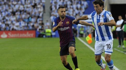 מיקל אויארסבל מול ג'ורדי אלבה (La Liga)
