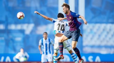 איבן ראקיטיץ' עולה לנגיחה (La Liga)