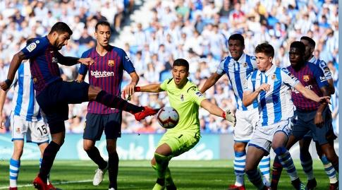 לואיס סוארס בועט לרשת (La Liga)
