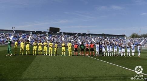 שחקני ויאריאל ולגאנס בפתיחה (La Liga)