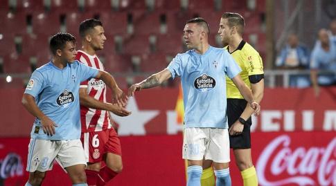 יאגו אספאס חוגג עם פראן בלטרן (La Liga)