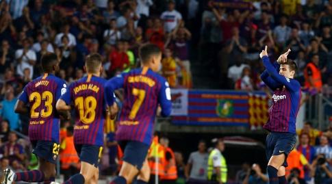 ג'רארד פיקה חוגג (La Liga)