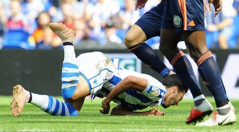 מיקל מרינו על הדשא. לא יכל להמשיך (La Liga)