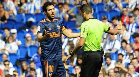 דני פארחו מוחה בפני השופט (La Liga)