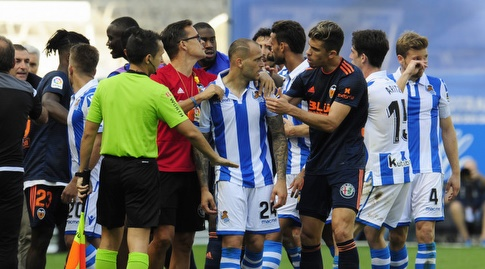 המהומה בין סנדרו רמירס לרובן וזו (La Liga)