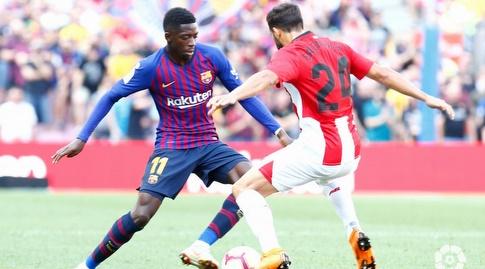 אוסמן דמבלה עם הכדור (La Liga)